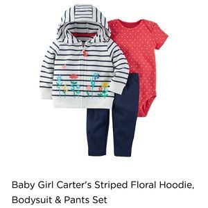 49bf15764 Carter's Matching Sets | Carters 3 Piece Hoodie Set | Poshmark